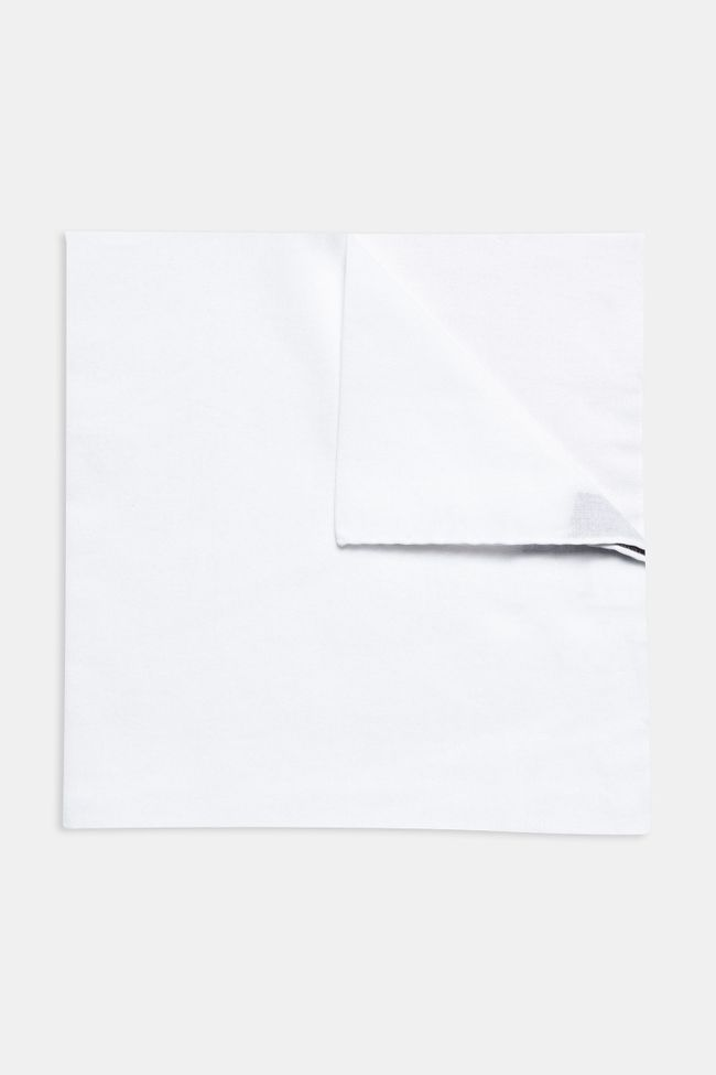 White cotton handkerchief