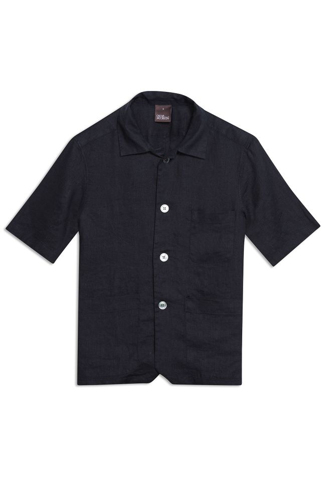 Hanks short sleeve linen shirt