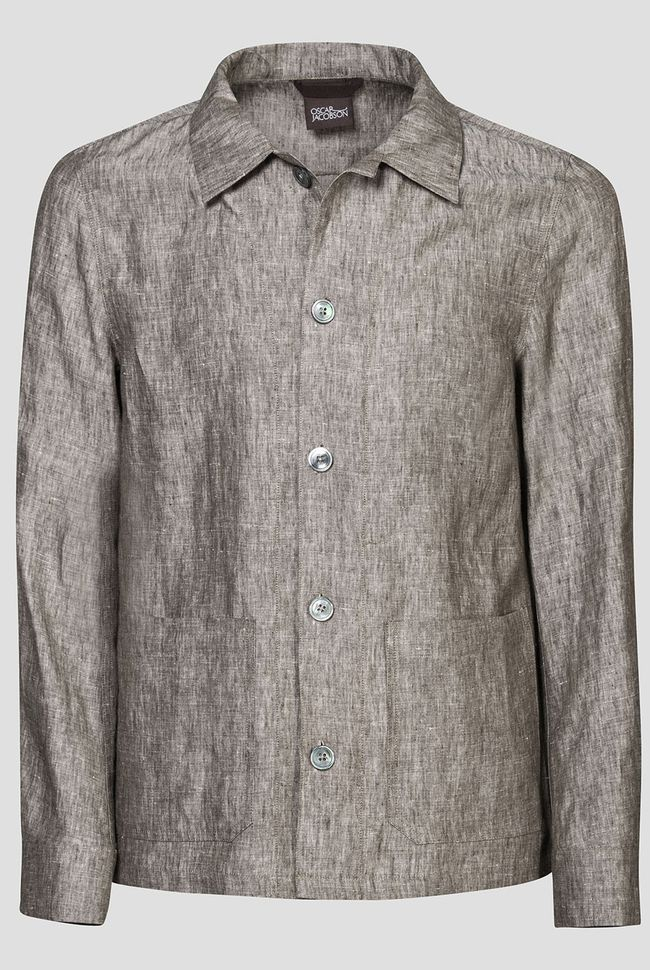 Hannes linen shirt jacket