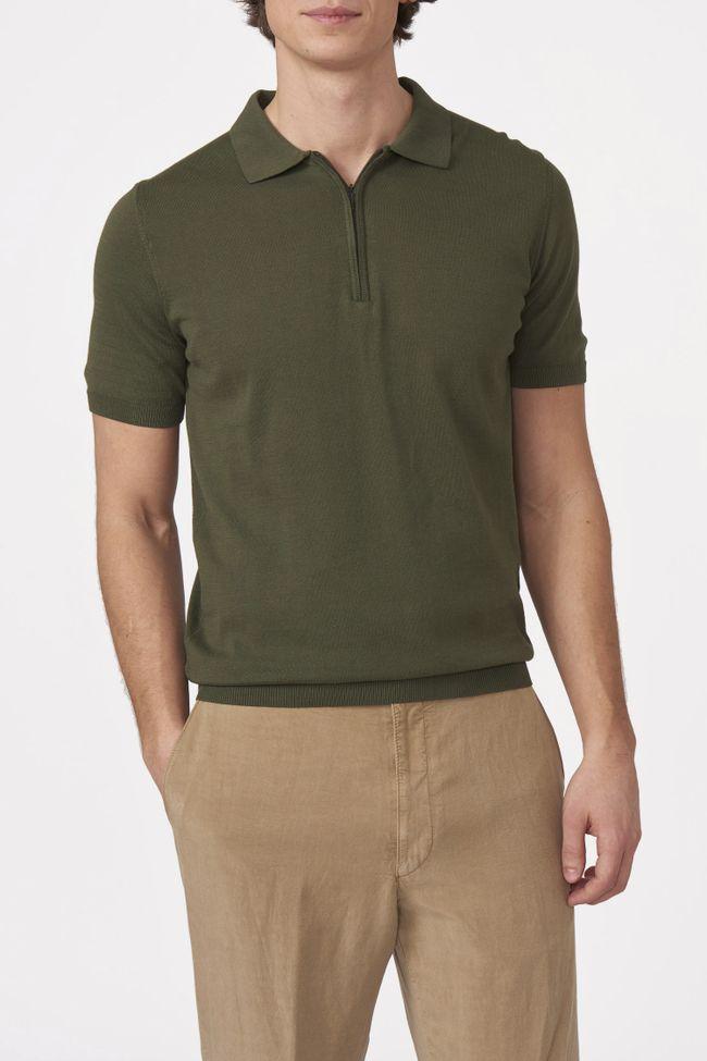 Otto short sleeve zip poloshirt
