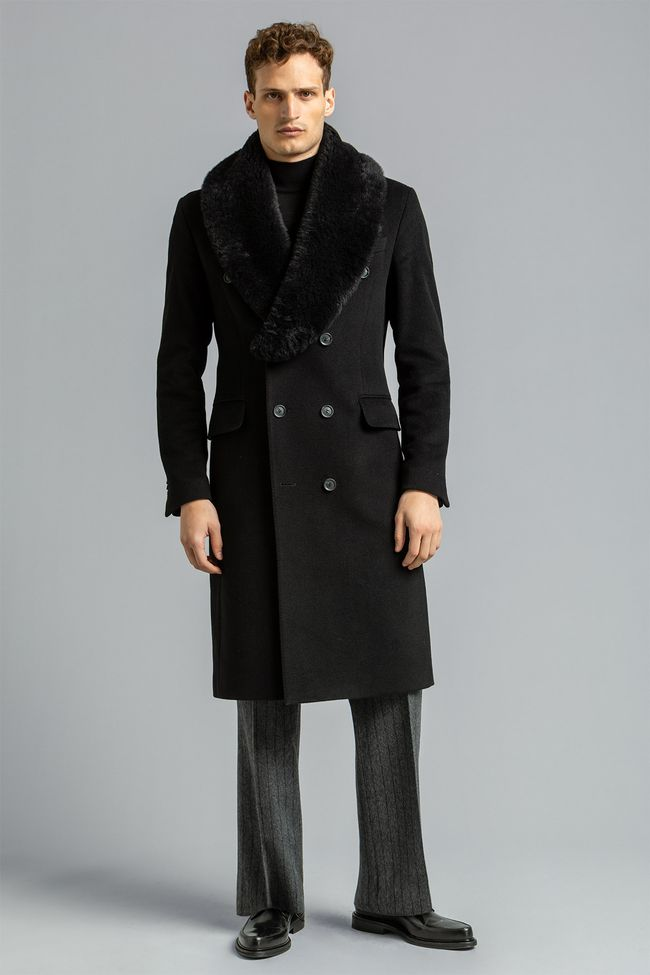 Pekka Fur Collar Coat