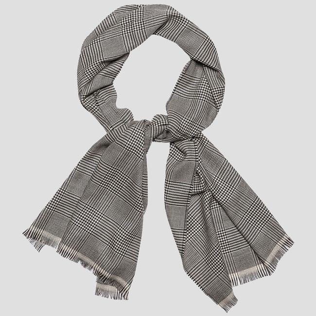 Glencheck wool scarf