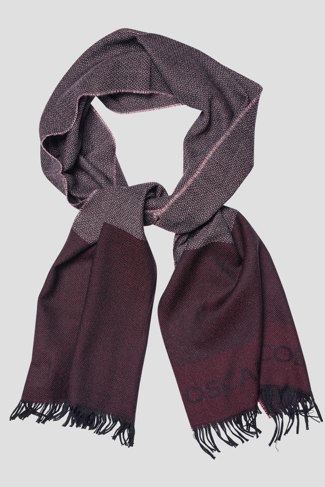 Block coloured wool scarf