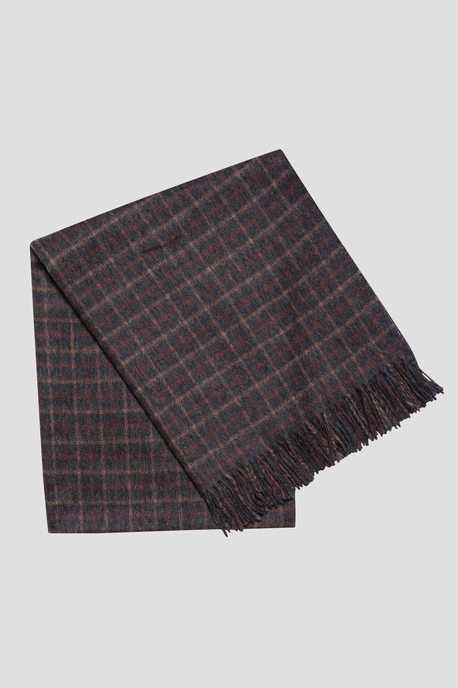 Checkered wool throw