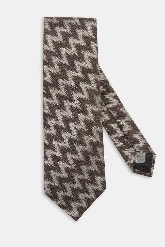 Cotton and silk tie