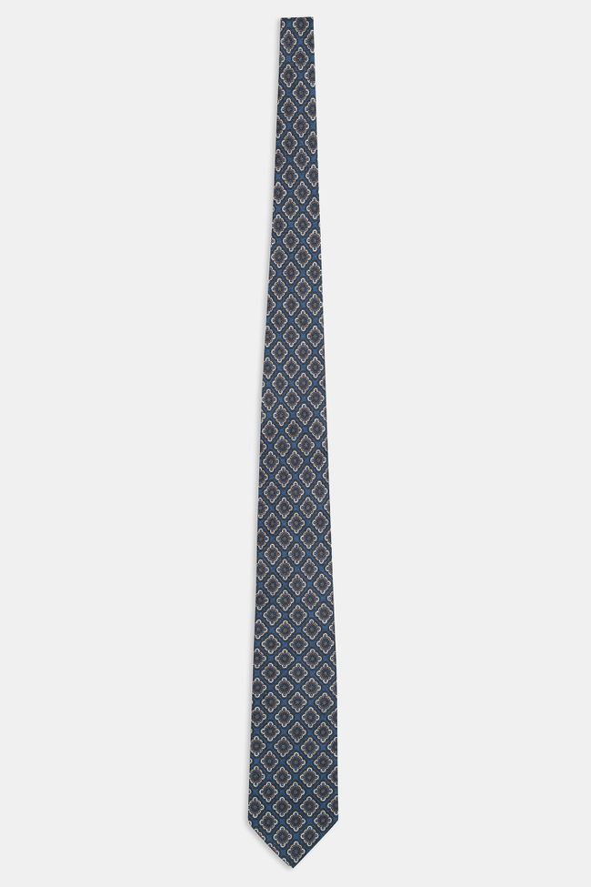 Patterned linen tie