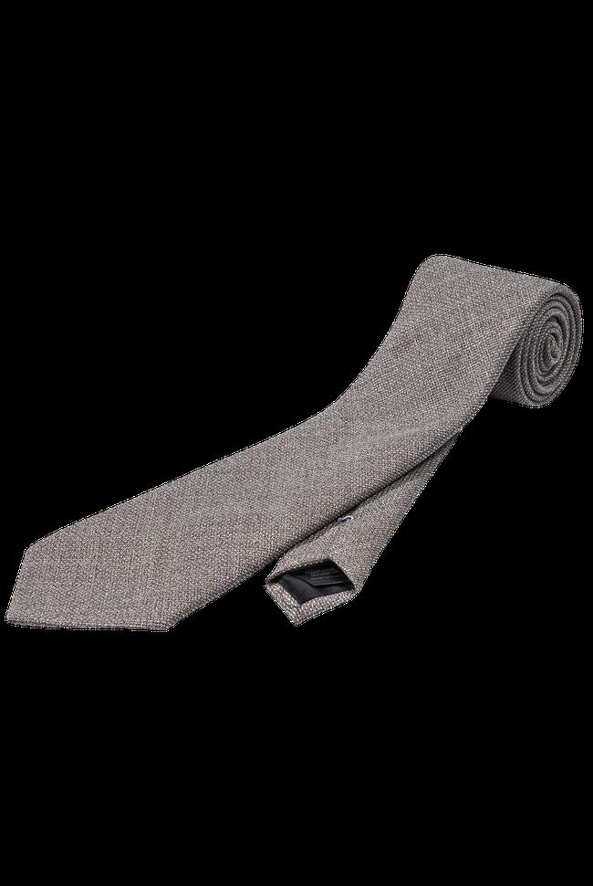 Plain wool texture tie