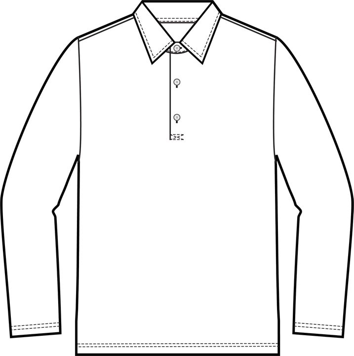Zine long sleeve Poloshirt