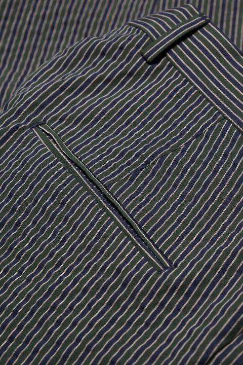 Denz striped seersucker Trousers