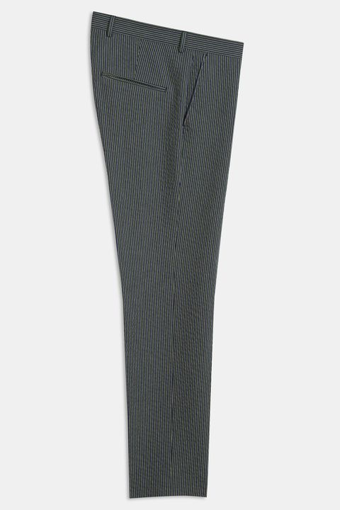 Denz striped seersucker Trousers