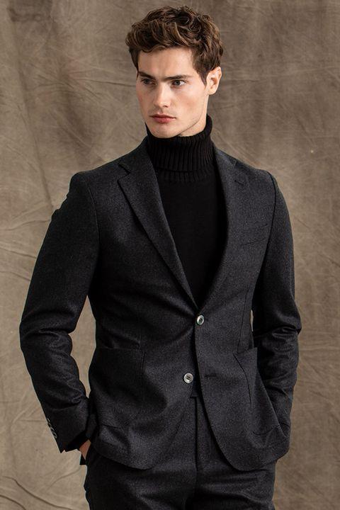 Einar flannel blazer