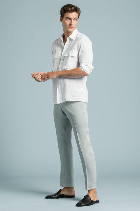 Elmer linen suit