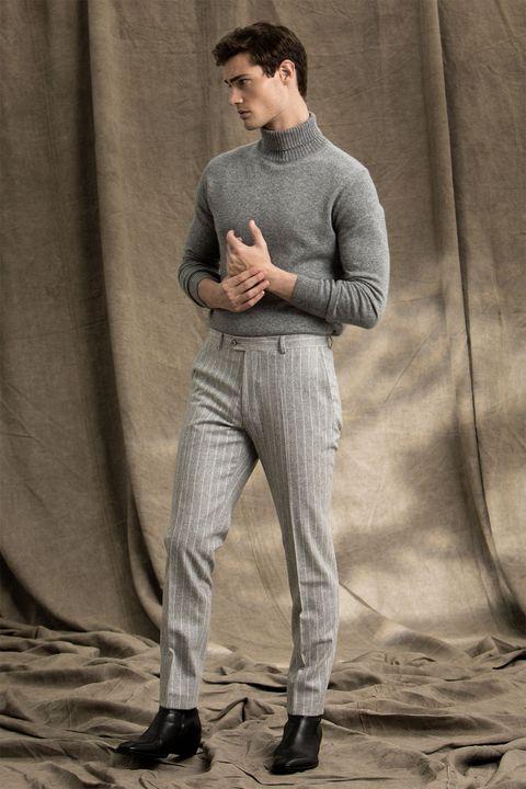 Elmer pinstripe flannel suit