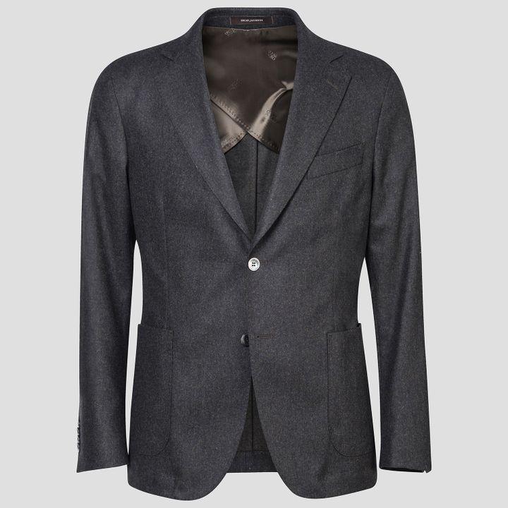 Feng flannel blazer
