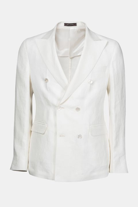 Fenix double breasted linen blazer
