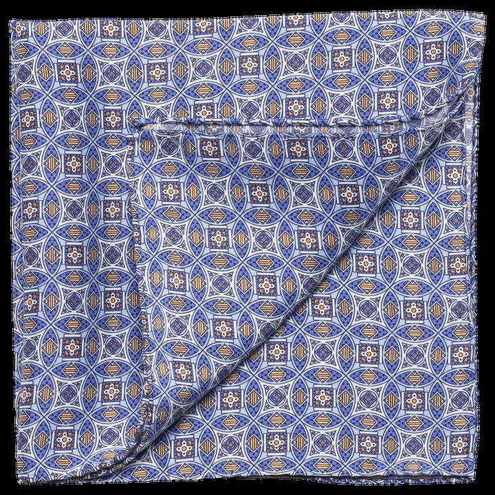 Blue pattern handkerchief