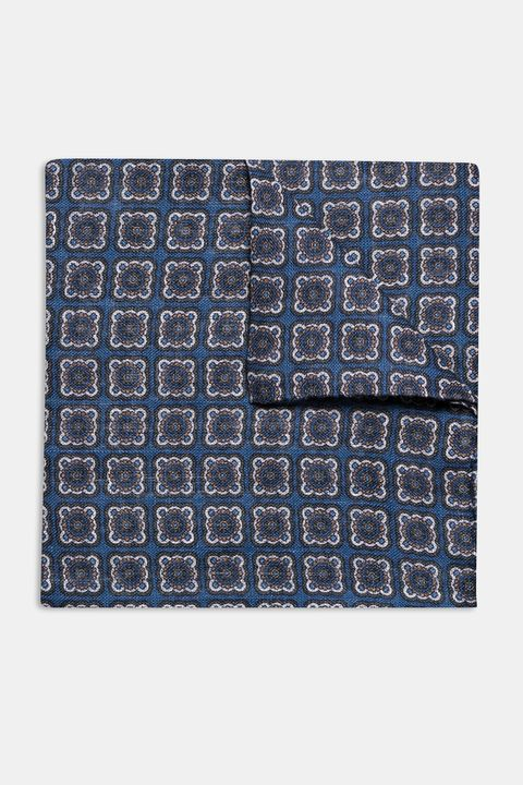 Patterned linen Handkerchief