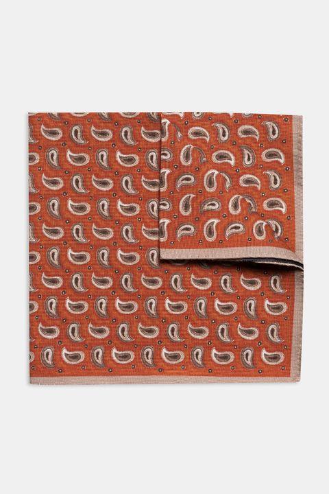 Paisley patterned silk handkerchief