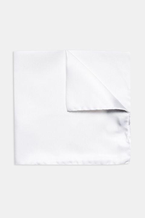 White silk handkerchief