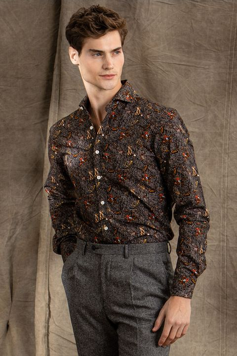 Herman pheasant print shirt