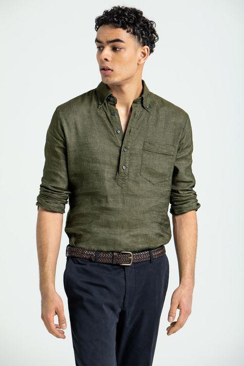 Hilding popover linen shirt