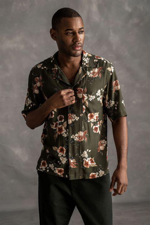 Hilmer Short Sleeve Bowling Collar shirt