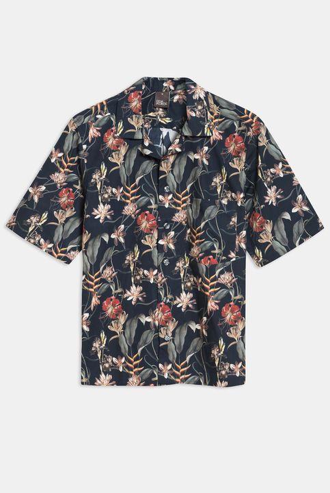 Hilmer flower print short sleeve shirt