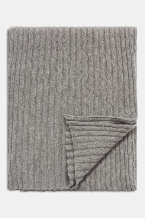 rib knitted cashmere scarf
