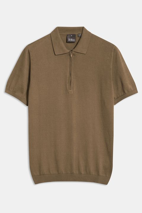 Otto short sleeve zip poloshirt