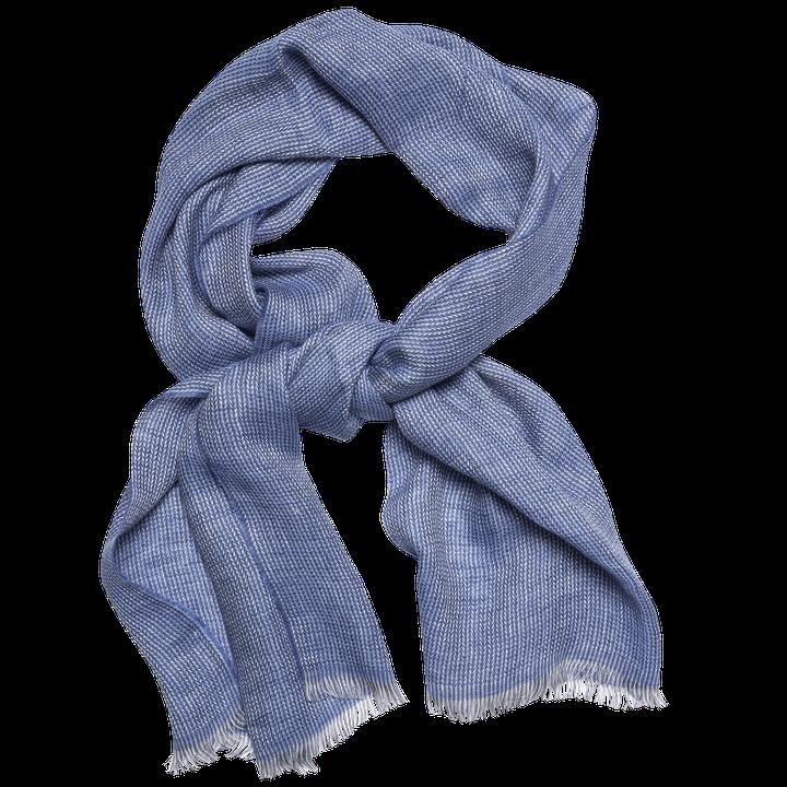 Herringbone linen scarf