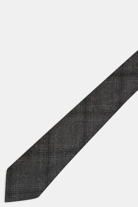 Checkered wool Tie