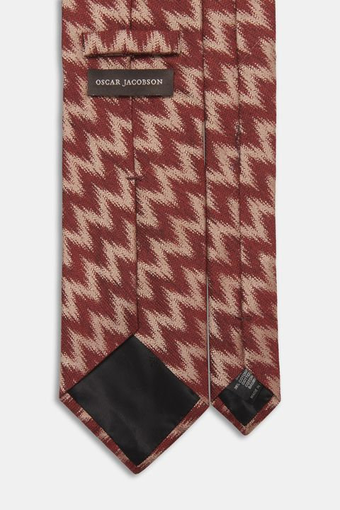 Cotton and silk tie