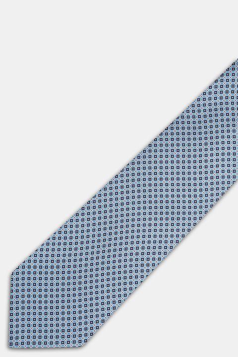 Micro patterned silk tie