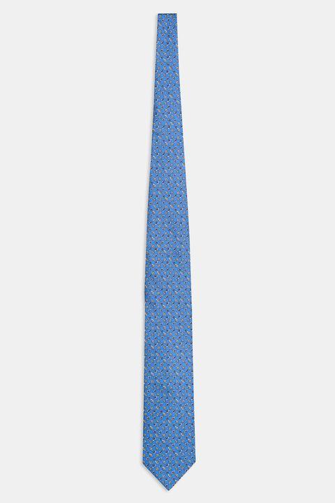 Paisley patterned silk tie