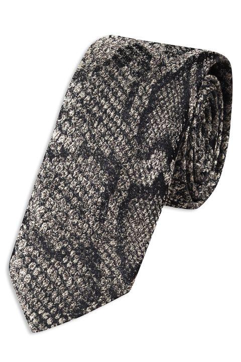 Snakeskin silk tie