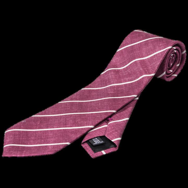 Striped cotton & silk tie
