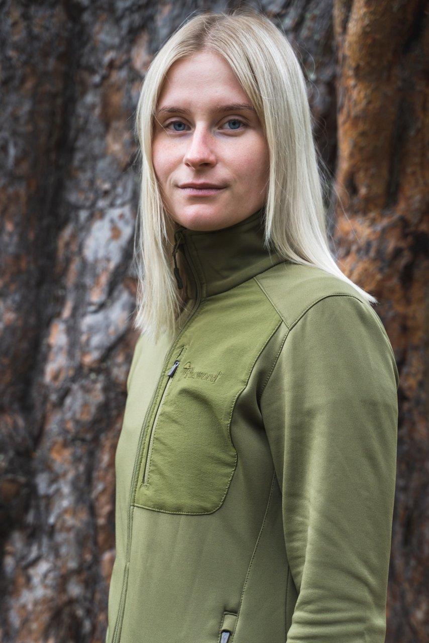 Pinewood Brenton powerflecce tröja i grönt för dam