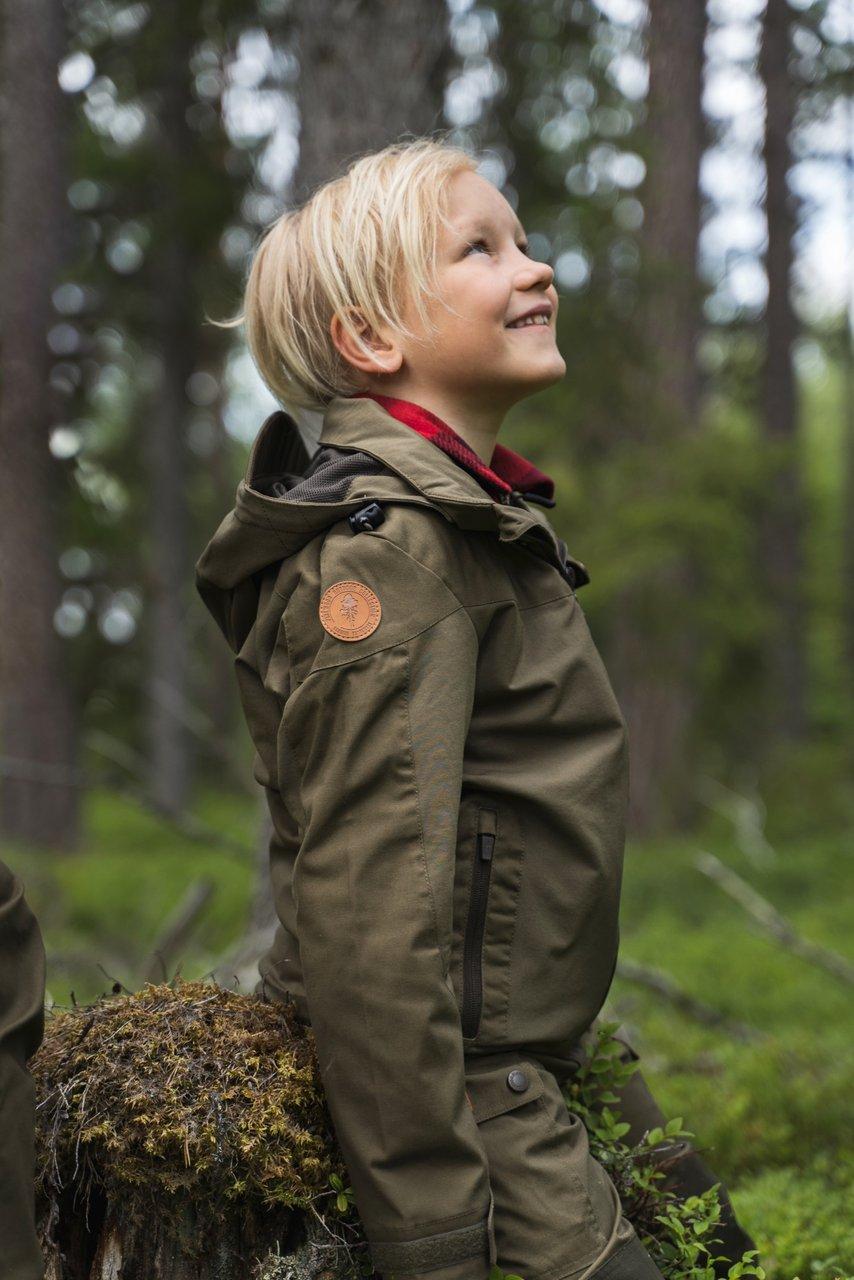 Finnveden Hybrid Barnjacka Pinewood i grön