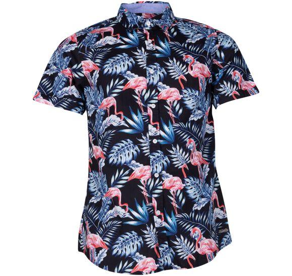 Hawaii Jungle Flamingo Shirt S