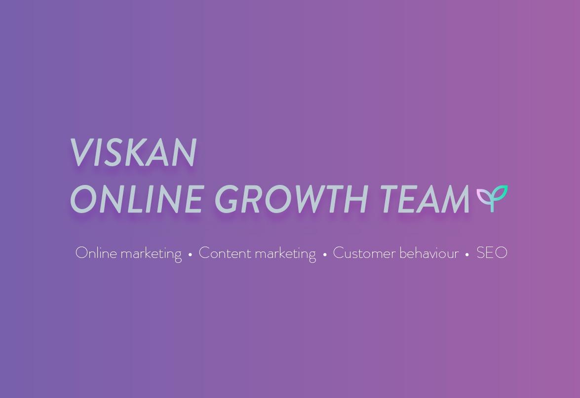 Online Growth Team verkkokaupan kasvun tueksi