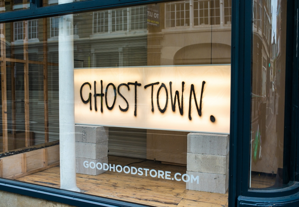 Ghost town - korona hiljensi kaupat