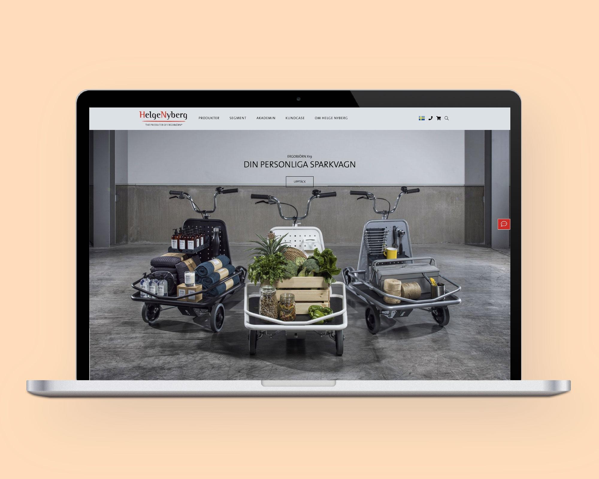 Helge Nyberg satsar stort på att utveckla sin egen e-handel och har i dagarna lanserat sin nya B2B site med Viskan Streamline.