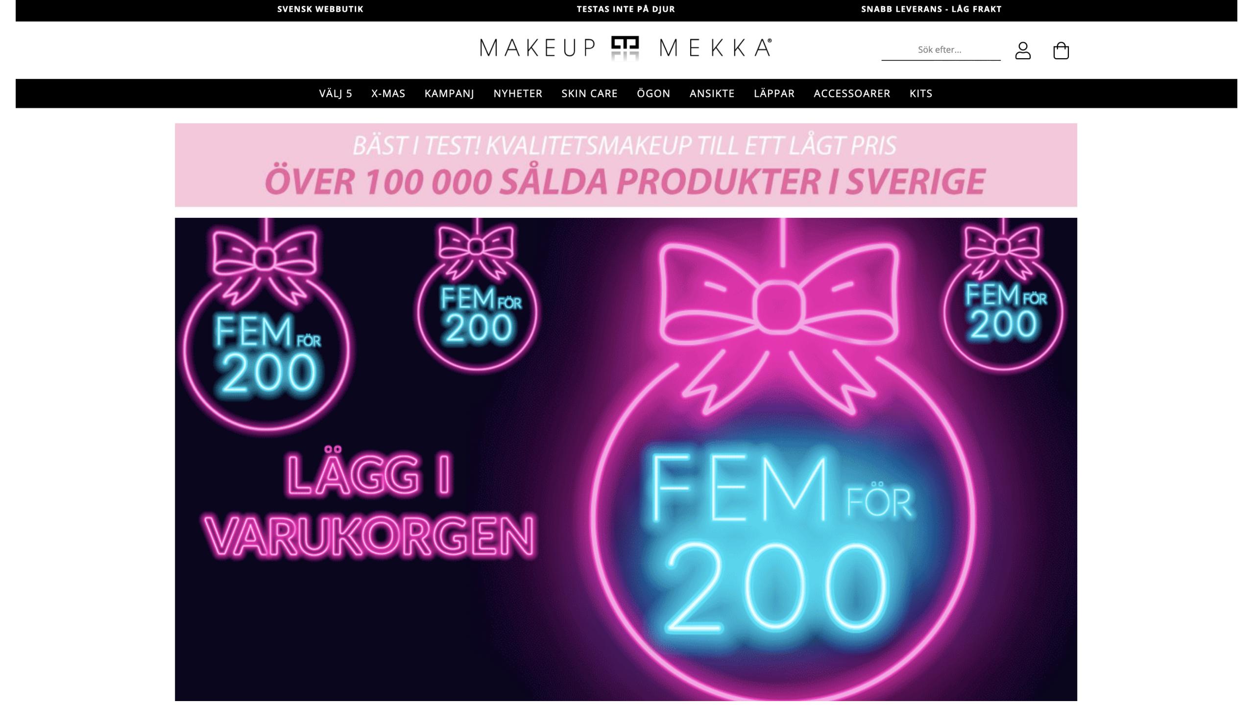 Makeup mekka sverige lansering