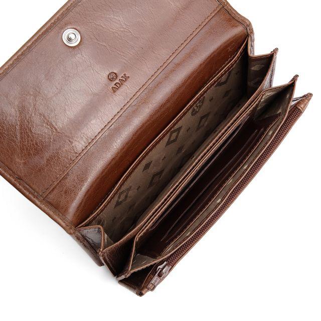 ADAX Nete lommebok i skinn, dame