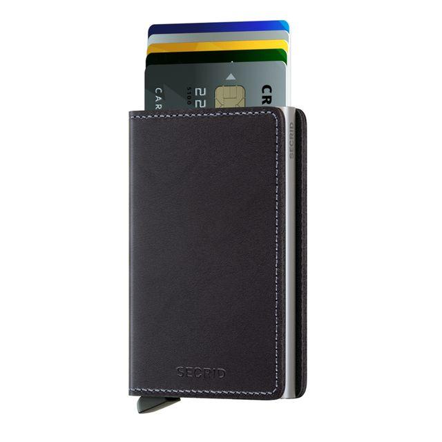 Secrid Slimwallet liten lommebok i skinn og metall