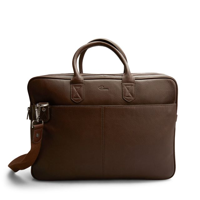 Rizzo Paul Wide Briefcase dokumentmappe i skinn