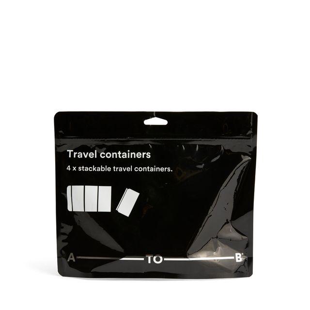 A-TO-B reisesett med transparente bokser, 4-pack