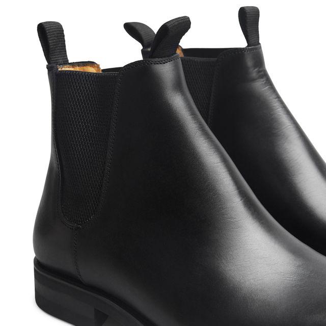 Rizzo Adelchi chelsea boots i skinn, herre