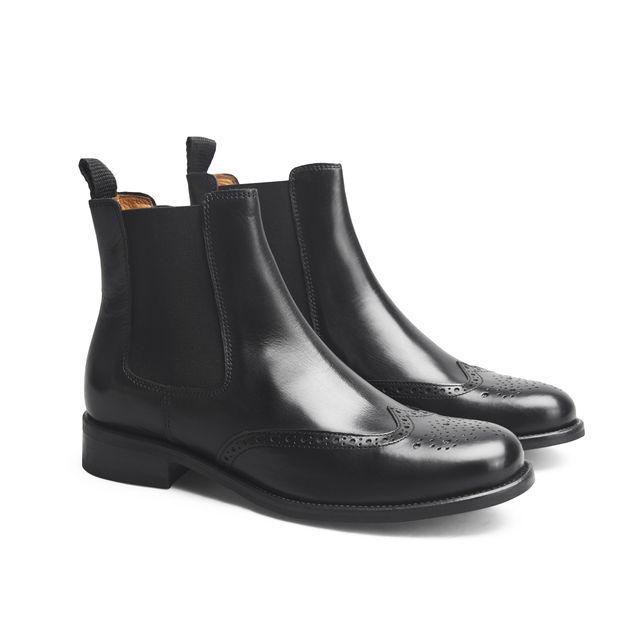 Rizzo Arianna chelsea boots i skinn, dame