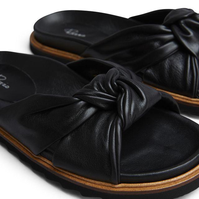 Rizzo Zelia slip-in sandaler i skinn, dame